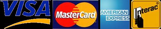 visa,mastercard,american express,interac logos